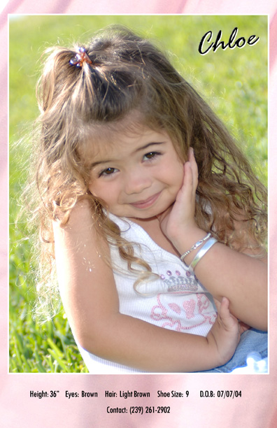 Naples Florida comp cards and fashion modelling for kids